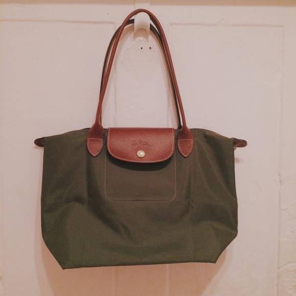 ef3c04c86bac Longchamp Handbags - Olive   Khaki Le Pliage Longchamp Small